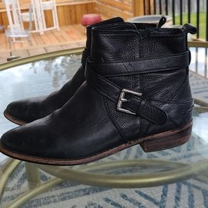 Coach Lannah safari leather ankle boots